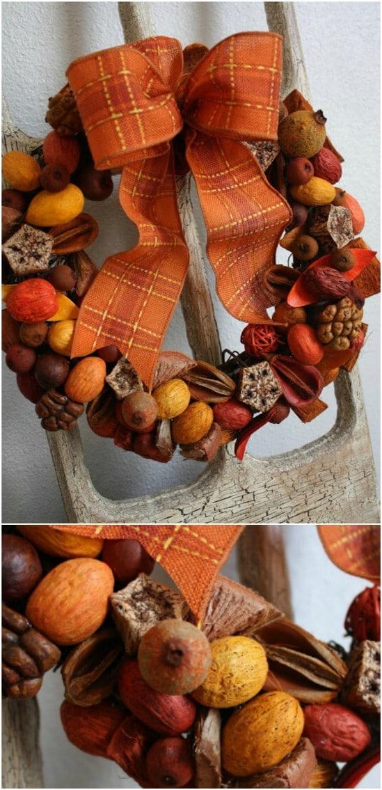 DIY Potpourri Wreath