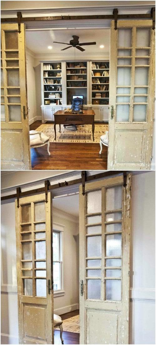 Farmhouse French Style Sliding Doors