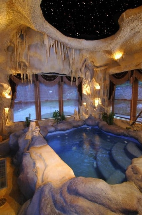 "Build a ""Cave"" to House Your Pool"