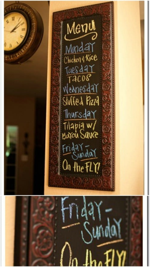 Don't forget to make good use of chalkboard paint.