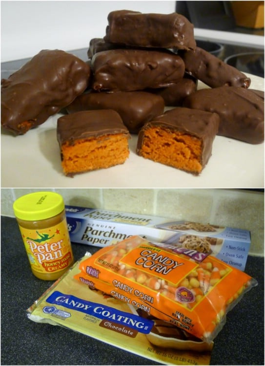 Homemade Candy Corn Butterfingers