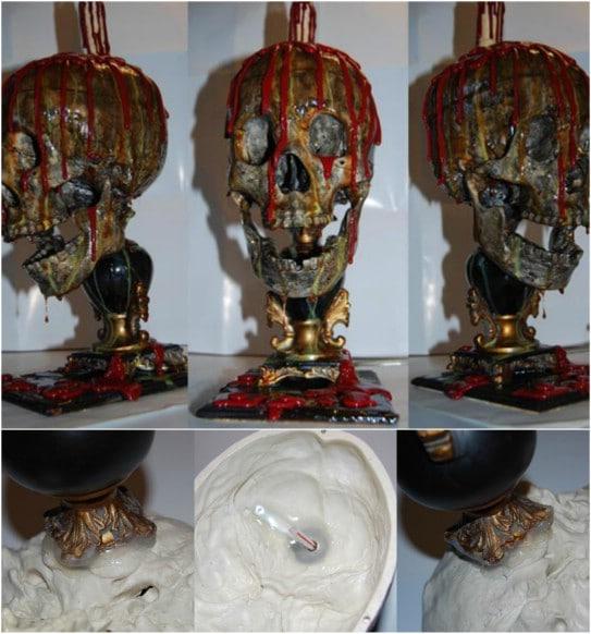 DIY Bloody Skull Lamp