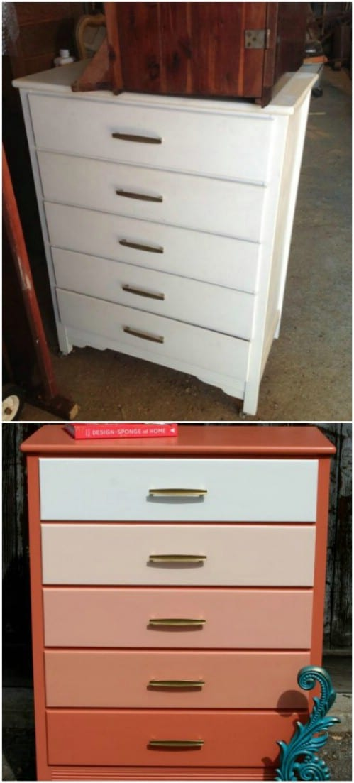 Here is exactly how you can paint an ombre dresser.