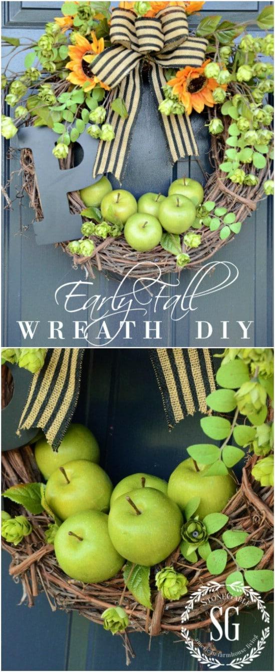 Easy Monogram Fall Wreath<img src=