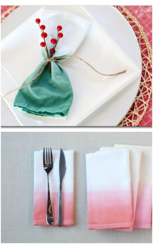 Dip-dye your napkins.