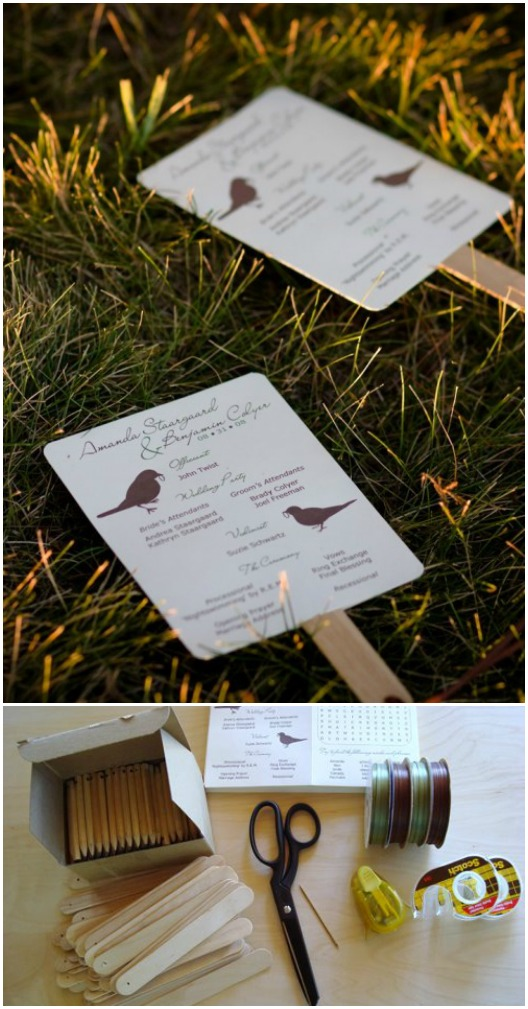 DIY Photo Wedding Fans