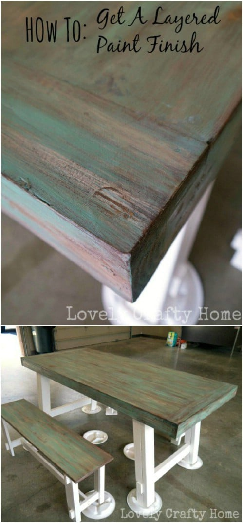 Learn how to get a weathered teal finish for your furniture.