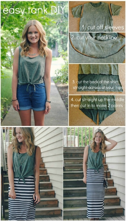 6dd712c6e60c 68 Fun and Flirty Ways to Refashion Your T-Shirts - DIY   Crafts