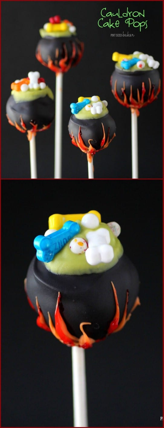 Cauldron Cake And Candy Pops
