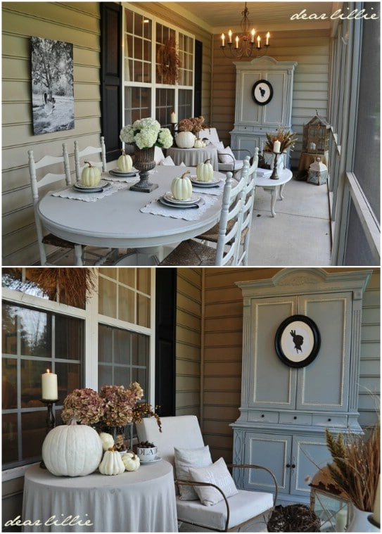 Fall Dining Porch Display