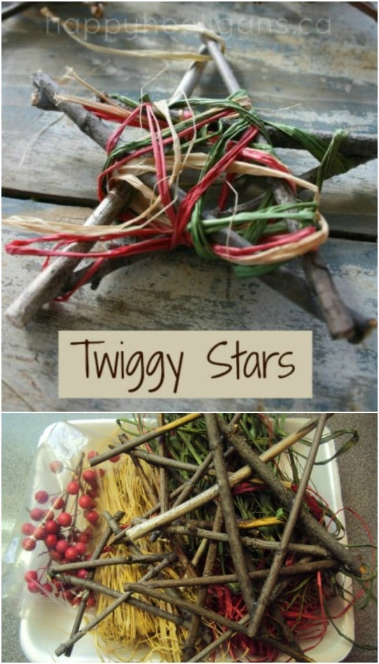 Upcycled Twig Christmas Stars