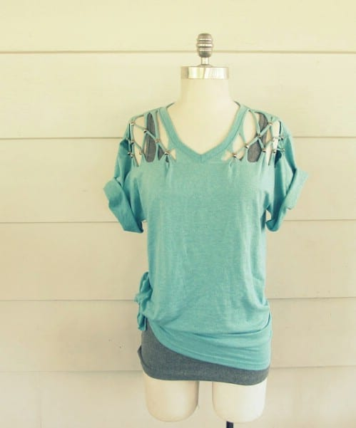 Adding studs to a T-shirt can make for a very polished look.