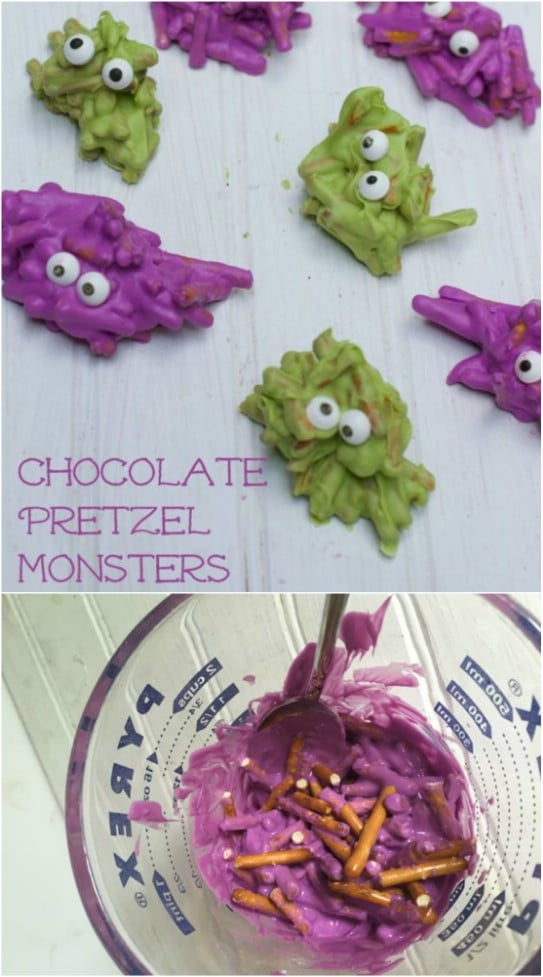 Candied Pretzel Monsters