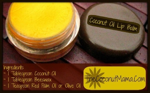 DIY Coconut Oil Lip Balm