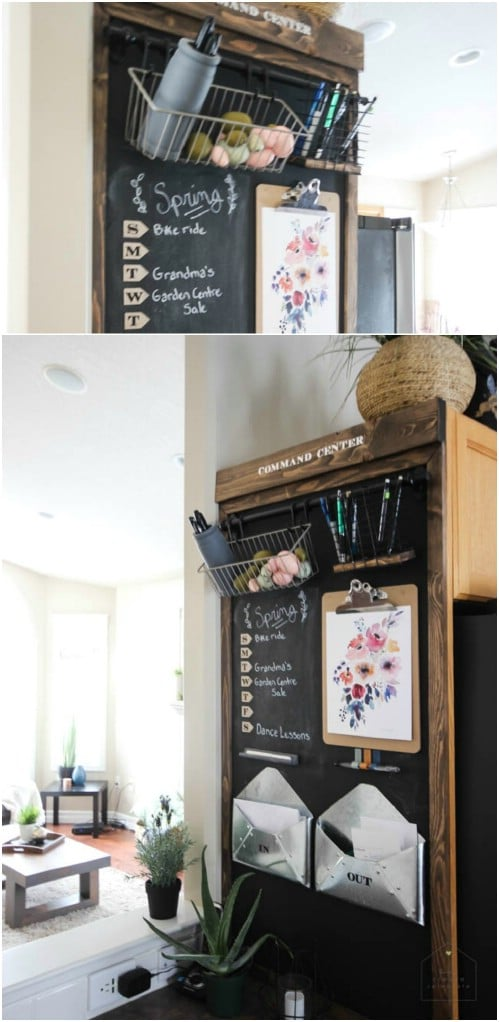 Use a chalkboard for a calendar.