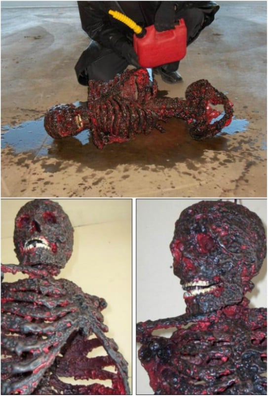 Grotesque Charred Corpse