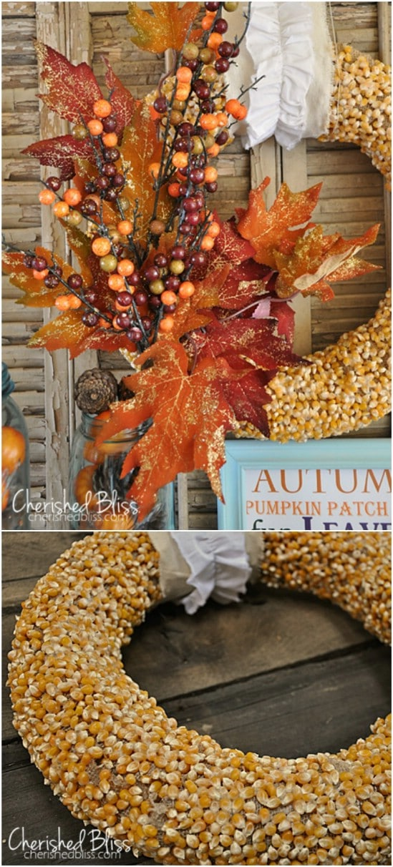 DIY Popcorn Kernel Wreath