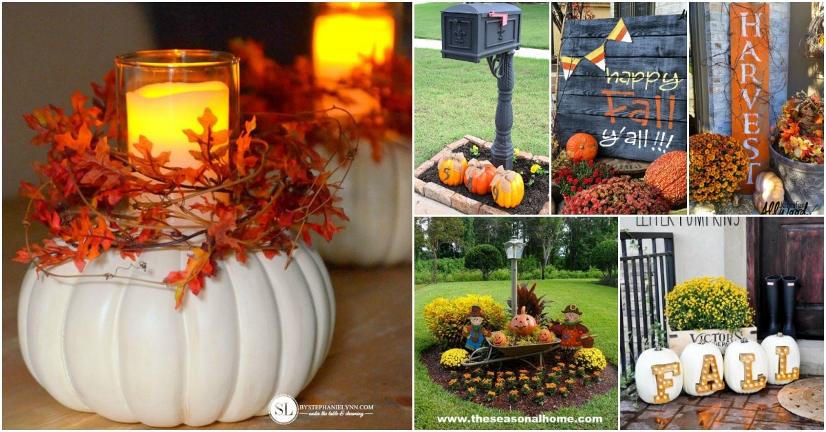 20 Diy Outdoor Fall Decorations That 39 Ll Beautify Your Lawn