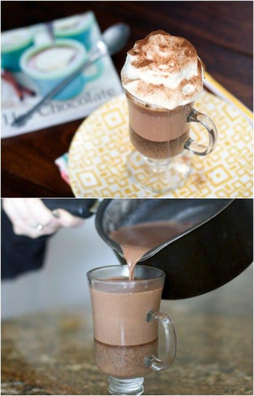 Black Bottom Hot Chocolate