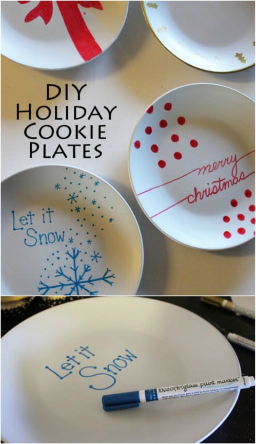 diy cookie exchange plates