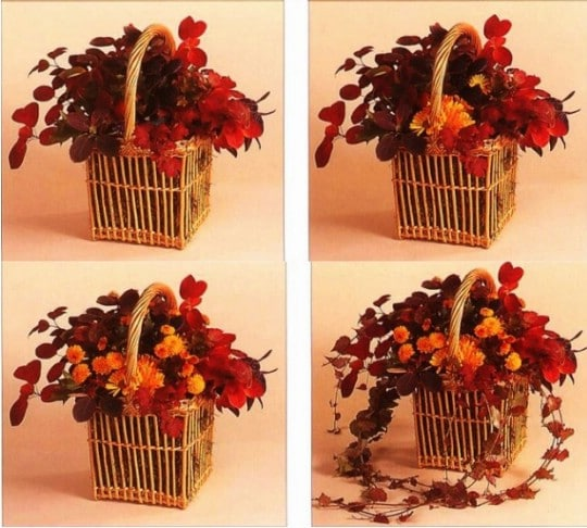 DIY Fall Floral Basket