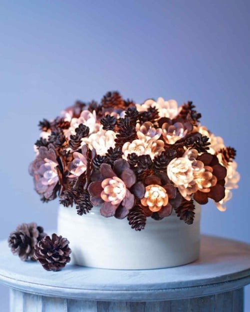 15 Rustic DIY Pinecone Home Decor Projects