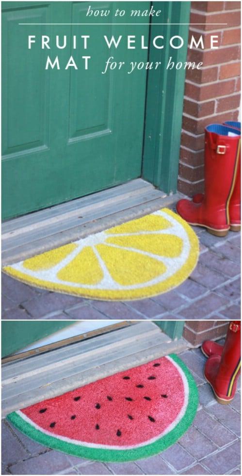 DIY Fruit Wedge Door Mats