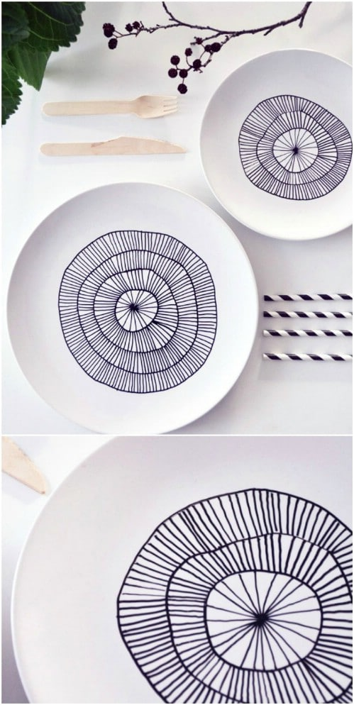 15 Minute DIY Porcelain Plates