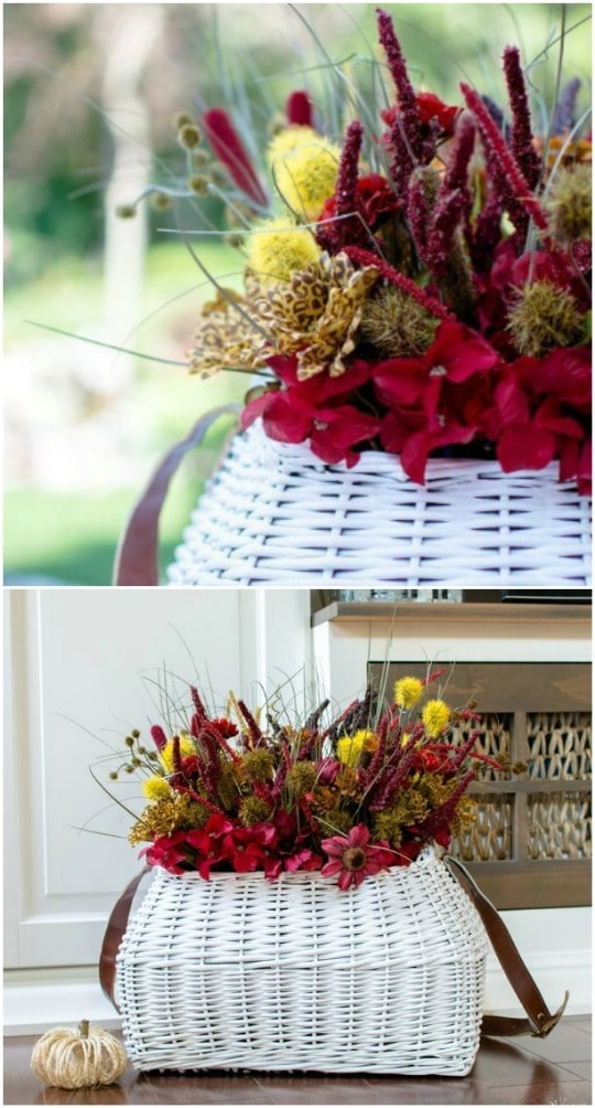 DIY Fall Flower Topiary