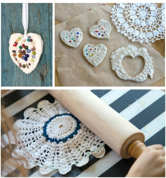 Rustic Handmade Clay Ornaments