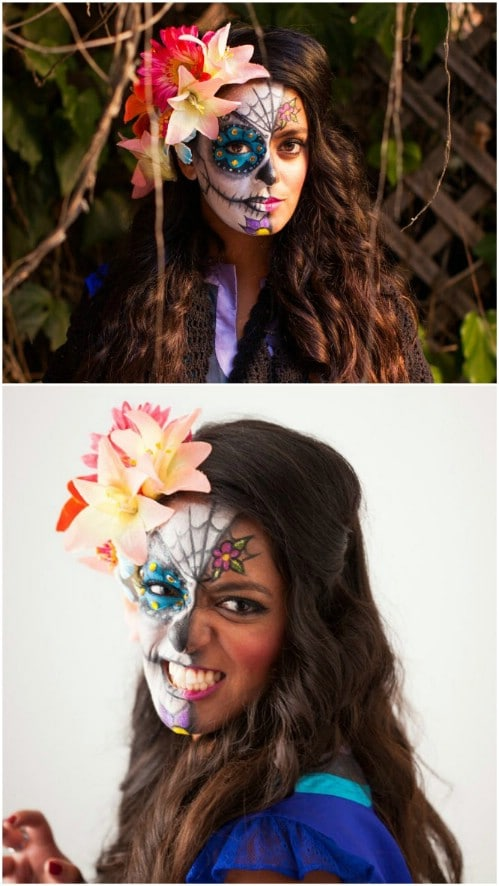 Easy DIY Sugar Skull Makeup