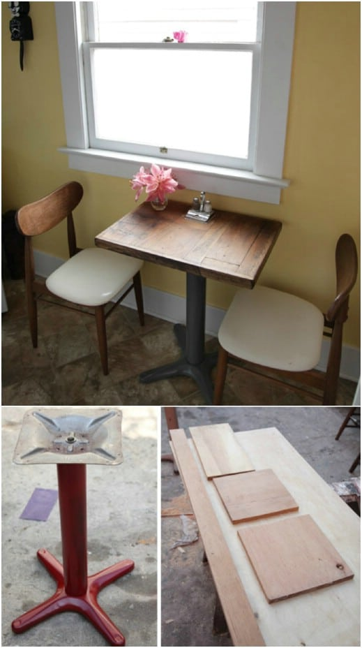 DIY Repurposed Flooring Side Table