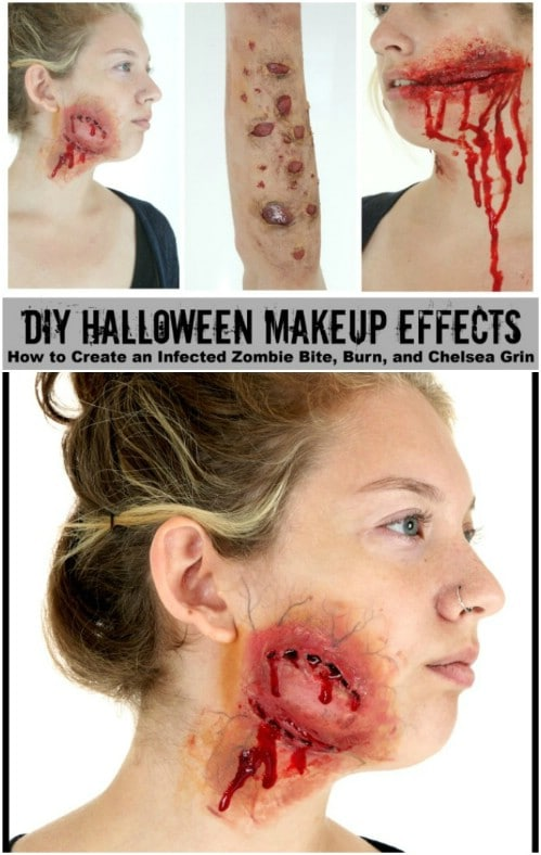 Infected Zombie Bite Makeup