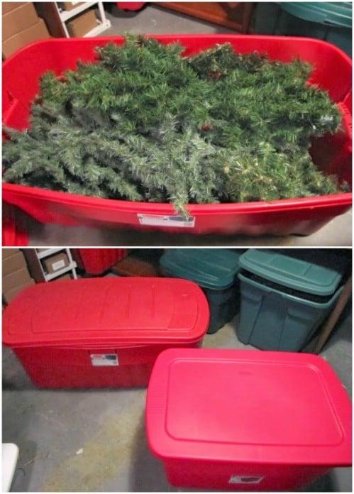 Easy DIY Wreath Storage