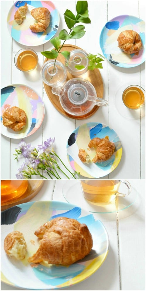 DIY Abstract Tableware