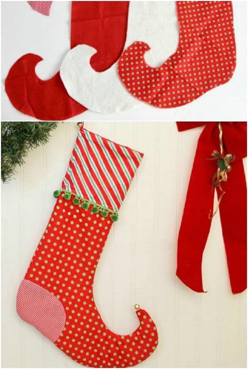 Adorable DIY Elf Christmas Stockings