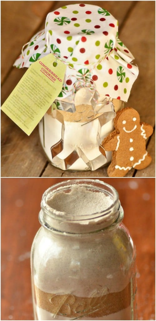 Yummy Gingerbread Cookies In A Jar
