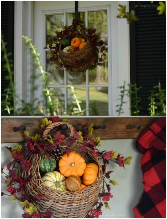 Easy Hanging Fall Basket
