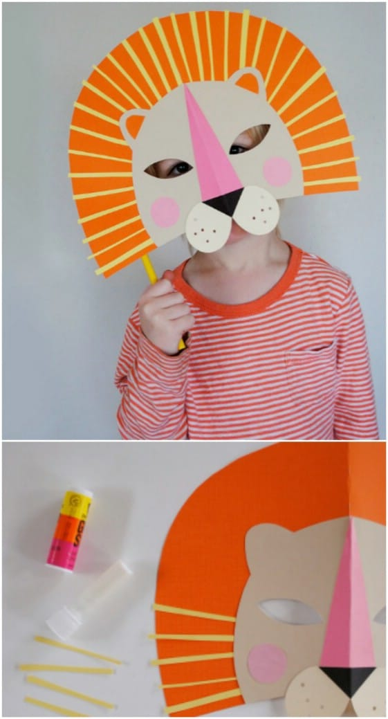 DIY Paper Lion Mask