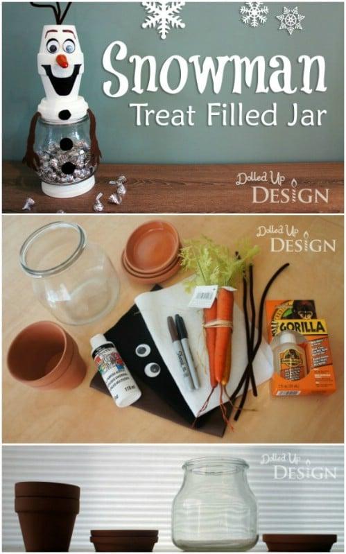 DIY Olaf Christmas Candy Jar