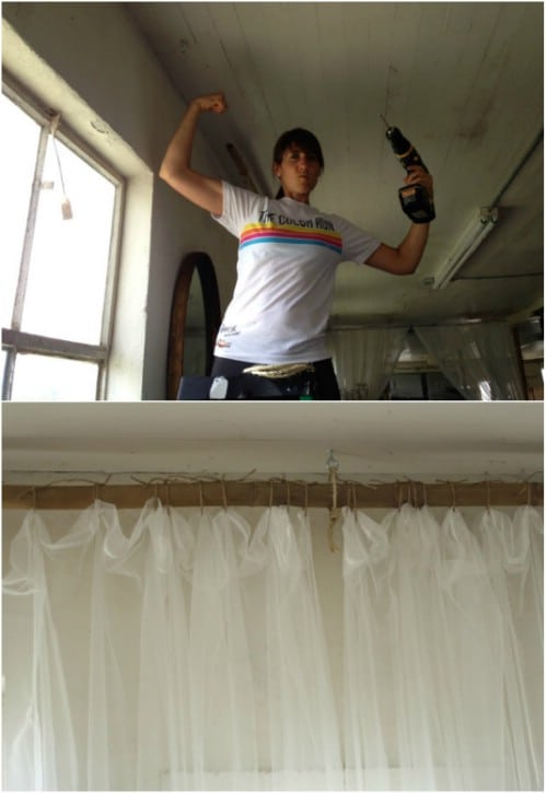 DIY Sisal Rope Curtain Rods