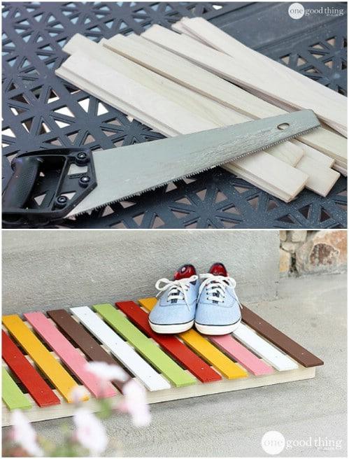 DIY Wooden Welcome Mat