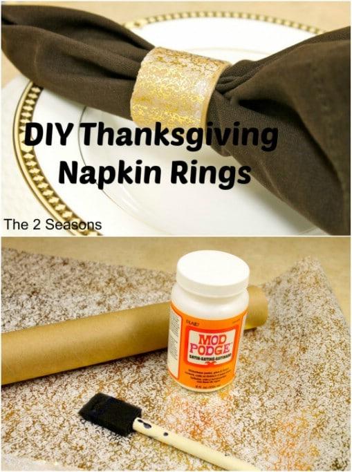 Golden Etched DIY Napkin Rings