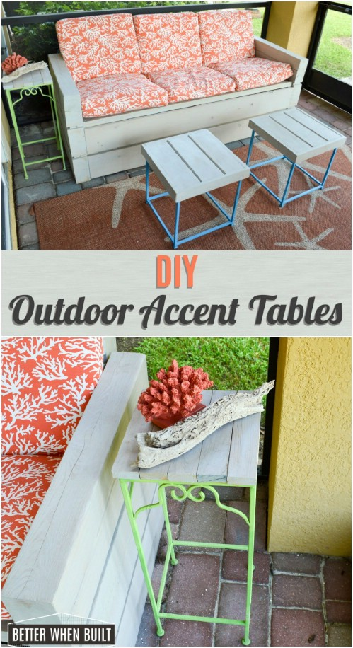 DIY Outdoor Accent Tables