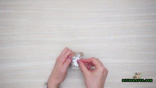 Lace and Reindeer Napkin Ring - How to Make 5 Festive Holiday Napkin Rings In Under 2 Minutes
