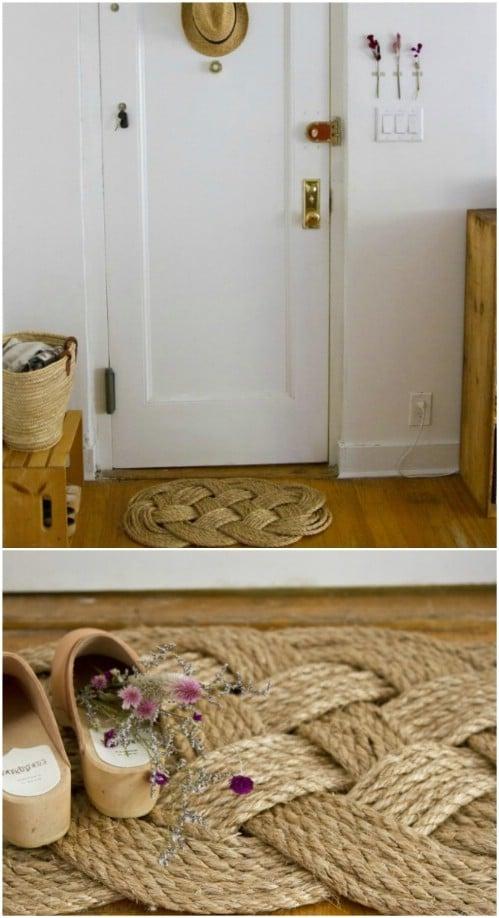 Easy DIY Woven Rope Door Mat