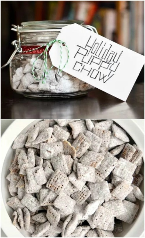 Holiday Puppy Chow In A Jar