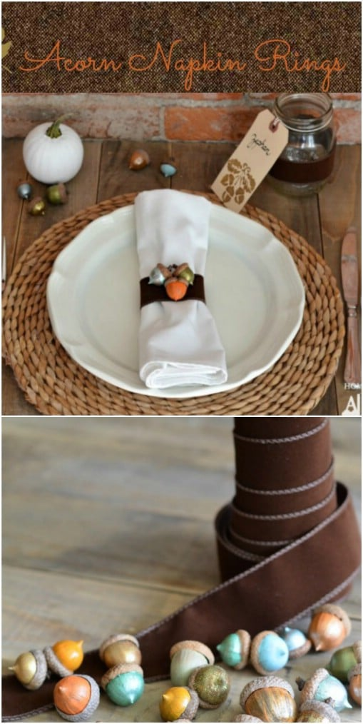 Thanksgiving Dinner Table Decor 16 Diy Napkin Ring Ideas