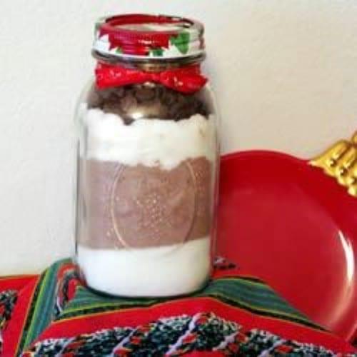 Chocolate Brownies In A Jar