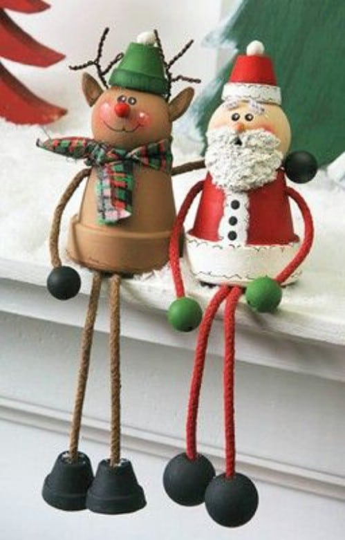 santa and rudolph shelf sitters - Rudolph And Friends Christmas Decorations